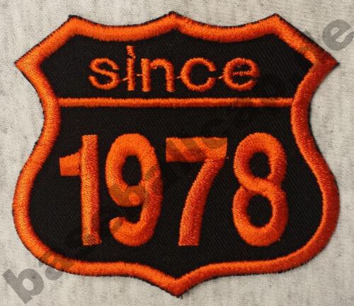 Patch Aufnäher Jahreszahl since 1978 Biker Hot Rod Custom