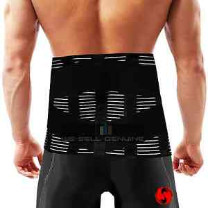 Double-Pull-Breathable-Lumbar-Lower-Bad-Back-Pain-Posture-Support-Belt-Brace
