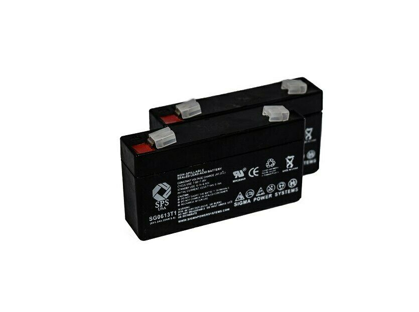 SPS Brand 6V 1.3 Ah (Terminal T1) Replacement battery for Ajc AJC-C1.3S (2 PACK)