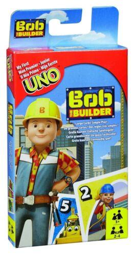 Jeu de Cartes Neuf Uno Junior Bob le Bricoleur de Mattel
