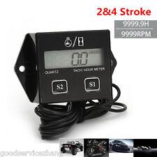 12V LCDDisplay Motorcycle 2&4 Stroke gasoline Engine Spark Tachometer Hour meter