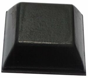 Auto-adhésif 10x pieds patins carrés en caoutchouc H:7.6mm 20x20mm pour meubles