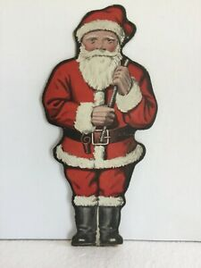 Antique-1915-Santa-Claus-Advertising-Card-Toeller-Dolling-Battle-Creek-MI