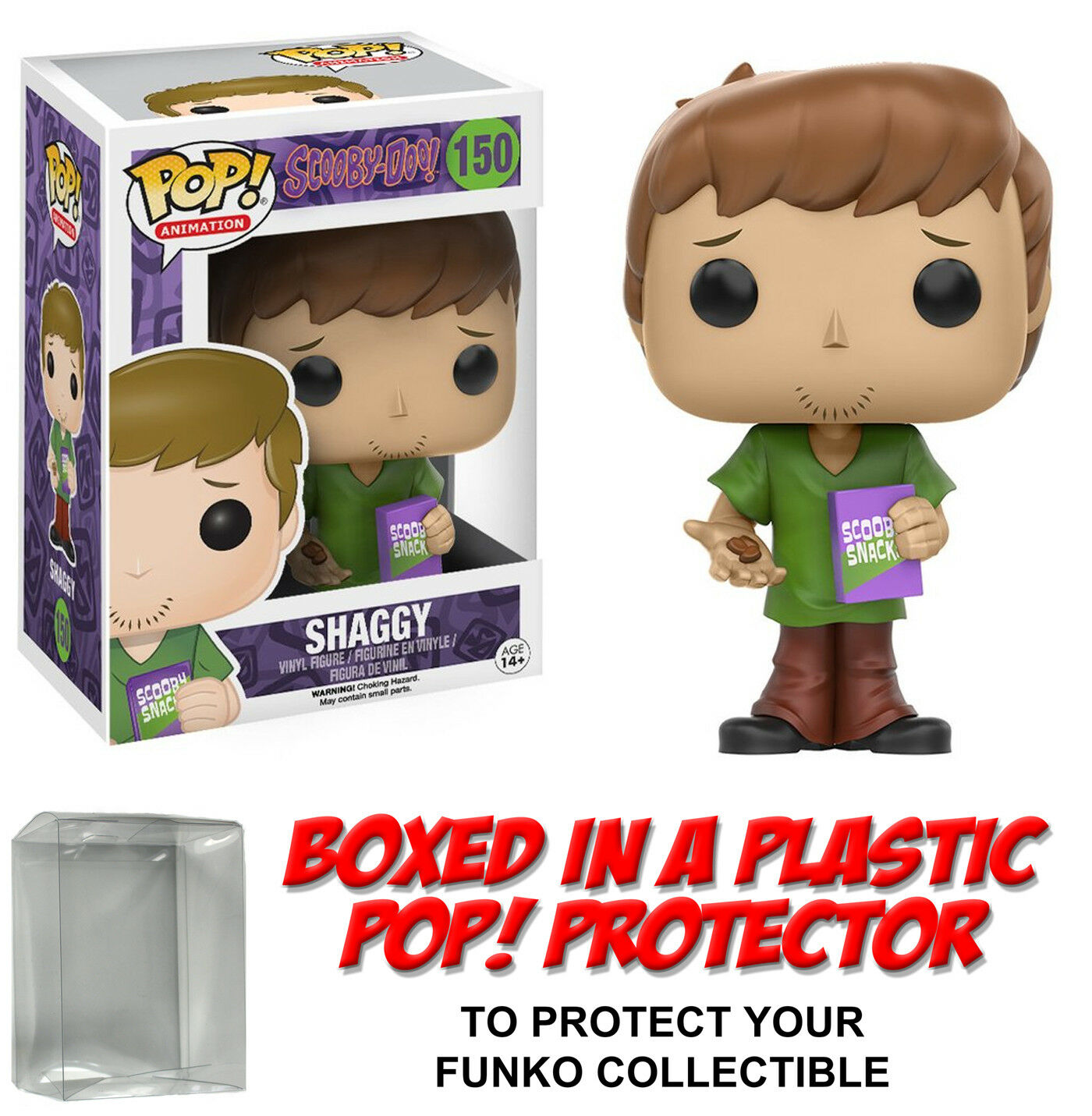 Funko POP  Animation  SHAGGY VINYL FIGURE w/Protector Case  Scooby-Doo