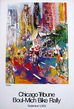 "Leroy Neiman LE Numbered Bookplate ""Chicago Tribune Boul-Mich Bike Rally""  Race"