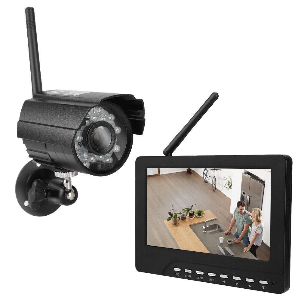 Caméra de Surveillance Sans Fil HD Écran Tactile Vision Nuit Sécurité Extérieur