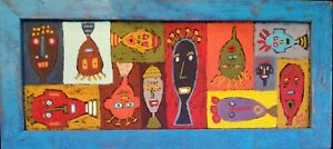 John-Sperry-Outsider-Southern-Primitive-Brut-Folk-Art-Painting-034-Talking-Heads-034