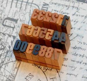 0-9-Holzzahlen-13-mm-Ziffern-Plakatlettern-Holzlettern-Zahlen-imprimerie-Letter