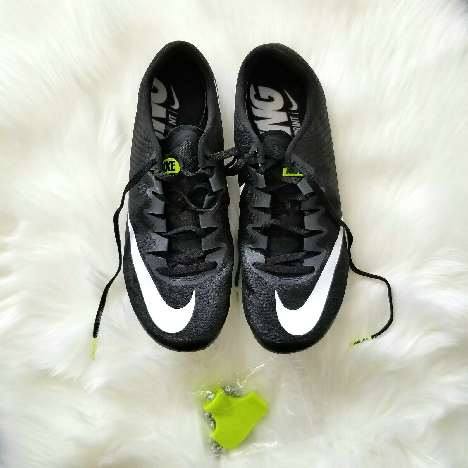 Nike SUPERFLY ELITE Sprinter BLACK WHITE 835996 017 SIZE 11.5 New W O Box