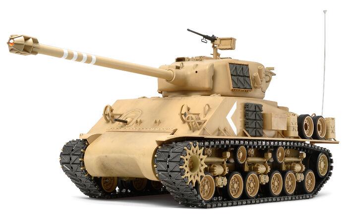 Tamiya 1 16 R C  Full Option  M51 SUPER SHERuomo  Tank modellololo Kit  Israel DF 56032  outlet online economico