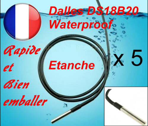 Waterproof 5 pieces DS18B20 Dallas 1-Wire Digital Thermometer Etanche