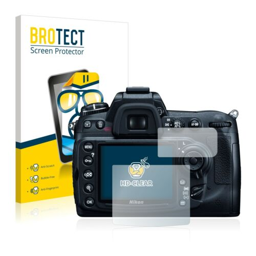2x Pellicola Protezione Display Chiaro Nikon d300 Pellicola Protettiva Display Pellicola