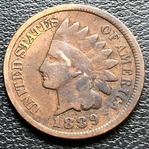 1889-Indian-Head-Cent-1c-Circulated-26851