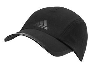 ed7b9f645e0 Adidas R96 Climalite Caps Running Hat Adjustable Black OSFM GYM Hats ...