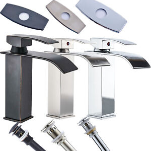 Bathroom-Basin-Faucet-Single-Handle-Hole-Deck-Mounted-Sink-Mixer-Tap-Waterfall