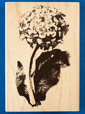 Brush Hydrangea Rubber Stamp by Penny Black - Garden Flower Brush Stroke