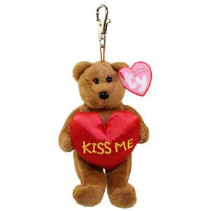 Baby Key Valenteenie Me Clip Ty BearMetal Kiss The Beanie nOkX8wP0