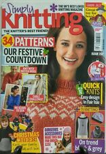 Simply Knitting UK  #152 2016 34 Patterns Festive Sewing -Mag only FREE SHIPPING