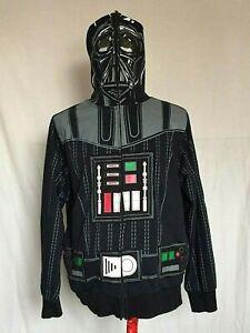Darth-Vader-Star-Wars-Full-Zip-Head-Mask-Mens-Hoodie-Large-Black-Jacket-Costume