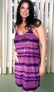 Purple-Print-Chemise-1X-2X-Short-Gown-Plus-Size