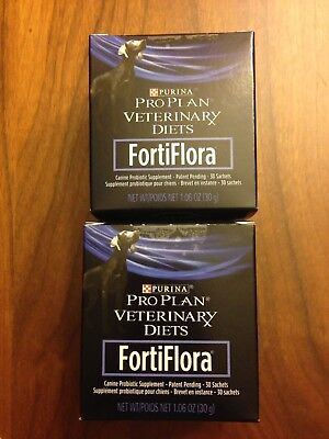 Other Cat Supplies Ingenious Purina Canine Fortiflora, Lot Of Two 30 Count Boxes New!!! Expiration Date 5/20