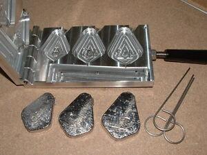 CNC Aluminum Saltwater Egg Slip  Sinker Mold