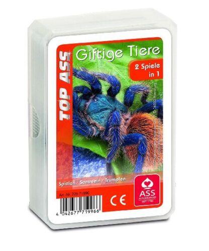 Kartenspiel Quartett TOP ASS 2in1 Giftige Tiere ab 4 Jahre