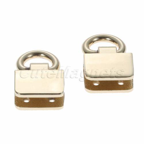 2Pcs Square Metal Claps Buckle Hook For Bag Strap Handbag Handles Connector