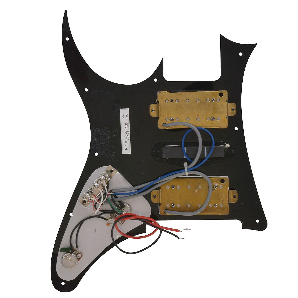 loaded prewired pickguard for ibanez grg250 electric guitar parts hsh black 634458679145 ebay. Black Bedroom Furniture Sets. Home Design Ideas