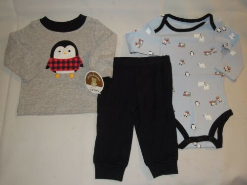 CHILD OF MINE BY CARTER/'S 3-PIECE PENGUIN OUTFIT SET NEW