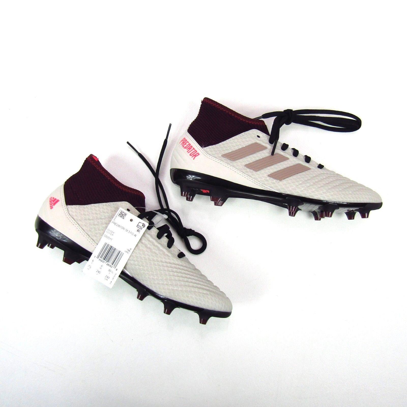 c469879c98b Adidas Womens Predator 18.3 FG Soccer Cleats White shoes DB2511 Size 6.5