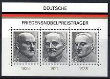 West Germany 1975 Nobel Peace Prize Winners mini sheet SG MS1767 unmounted mint