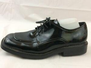 After-Six-MEN-12-M-Black-Faux-Patent-Leather-Square-Toe-Dress-Tuxedo-Shoe-Oxford