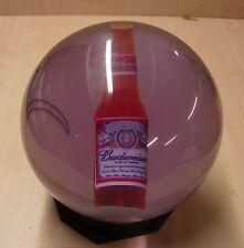 14# 9 oz Ebonite Budweiser Bottle Clear Bowling Ball  - small crack
