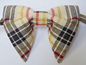 70s plaid tie clip  vintage gold red tartan tie bar