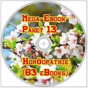 ☝ MEGA EBOOK PAKET 13 HOMÖOPATHIE CD 83 eBooks Medizin + MENÜ Arzt PDF DVD Neu