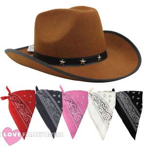 Caricamento dell immagine in corso Cappello-da-Cowboy -da-marrone-e-Paisley-Bandana- 393168f454e0