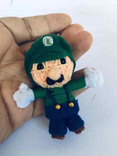 Green Mario Anime Voodoo STRING DOLL HANDMADE HANDCRAFT KEYRING TOY BAG