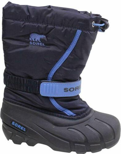 $60 botas de inverno Sorel Flurry tamanho 6T E 7T Unissex Collegiate Marinho//Azul Marinho