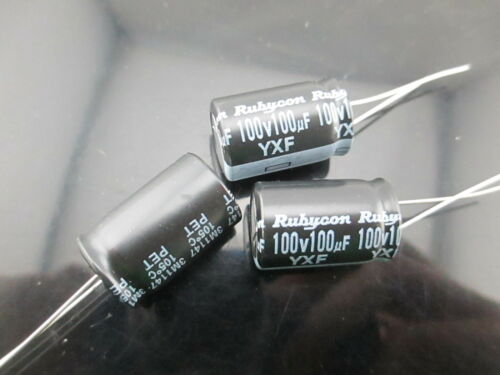 50pcs RUBYCON YXF 100uf 100v 100mfd electrolytic Capacitor 12.5*20mm