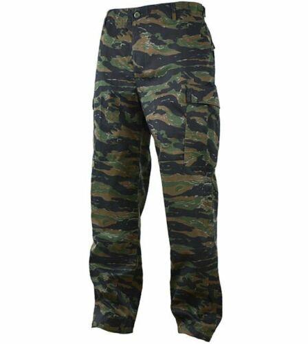 Mil-Tec Mens Army Combat BDU CARGO PANTS Field Trousers Tiger Stripe