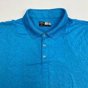 Callaway Opti-Dri Golf Polo Shirt Men's Size 2X Short Sleeve Blue Poly Blend