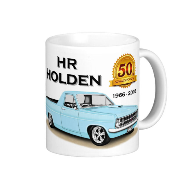 HOLDEN  HR  186  UTE 50th  ANNIVERSARY QUALITY  11oz.  MUG  ( 6 CAR COLOURS)