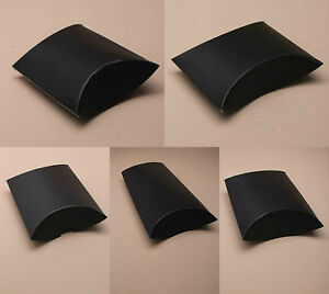 Pack-of-12-Matt-Black-Gift-Pillow-Box-Boxes-Wedding-Favour-Wholesale-Party-Box