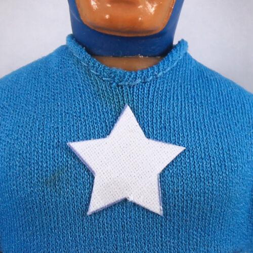 "Pre-Cut FABRIC Star Sticker,Decal Mego 8/"" Captain America Action Figure Part"
