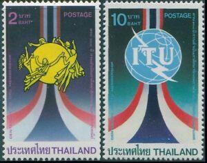 Thailand-1985-SG1202-1203-UPU-and-ITU-set-MNH