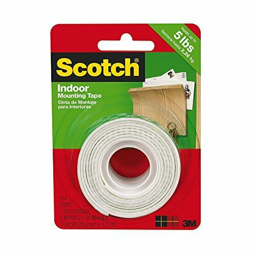 4-PACK 1-Inch by 50-Inch 3M Scotch Heavy Duty Mounting Tape