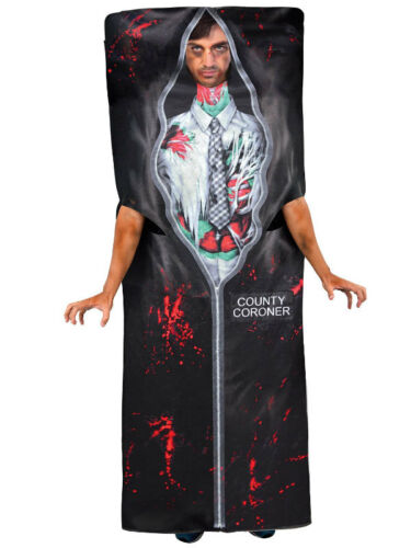 Adults Body in Bag New Fancy Dress Costume Morgue Dead Man Crime Scene Halloween