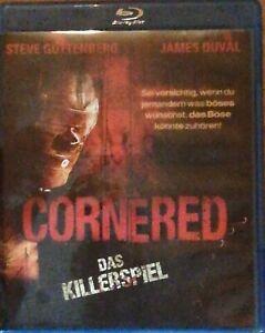 BLU-RAY-CORNERED-DAS-KILLERSPIEL-HORROR-FILM-THRILLER-FULL-HD-1080-DEUTSCH