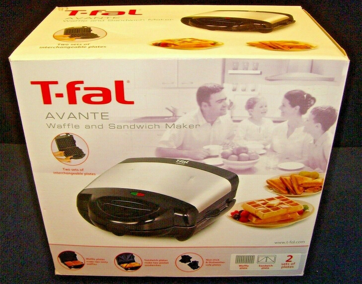 T-fal Avante Grill sandwiches or breakfast waffle